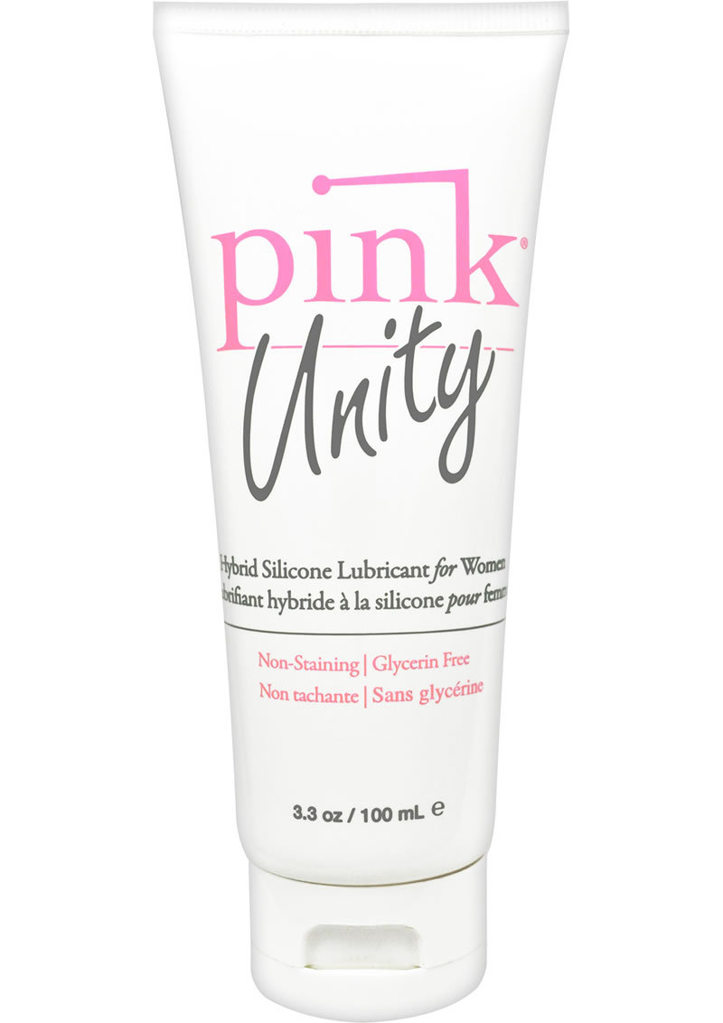 Pink Unity Hybrid Silicone Lubricant For Women 3.3 Ounce Tube